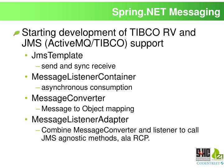 Spring.NET Messaging