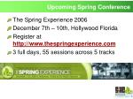 upcoming spring conference