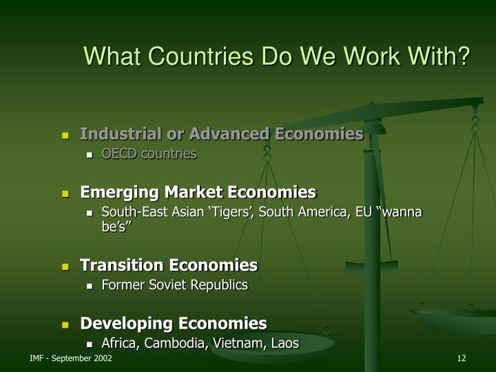 What Countries Do We Work With?