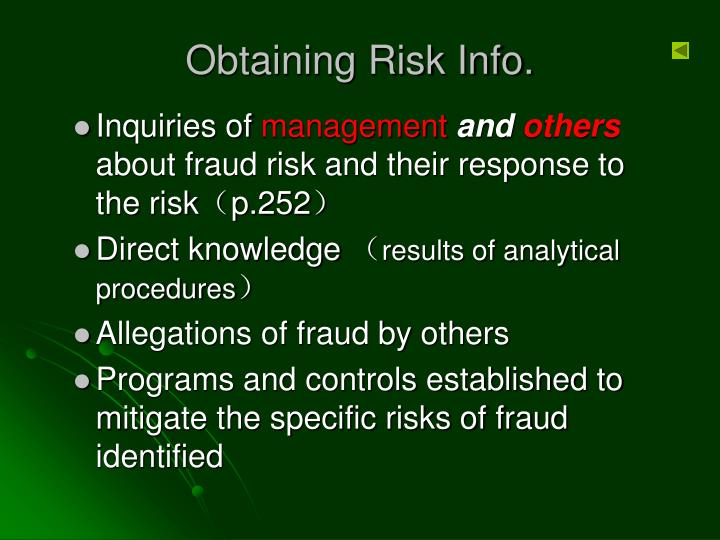 Obtaining Risk Info.