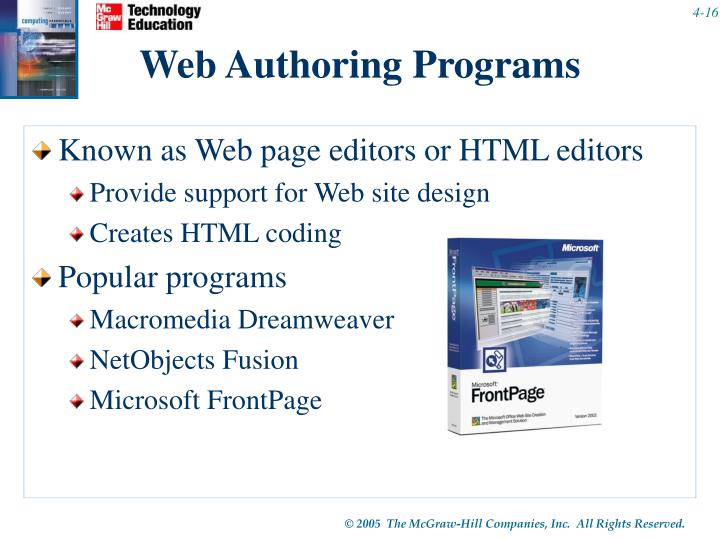 Web Authoring Programs