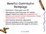 benefici contributivi reimpiego