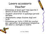 lavoro accessorio voucher
