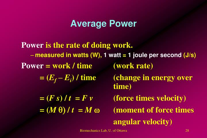 Average Power