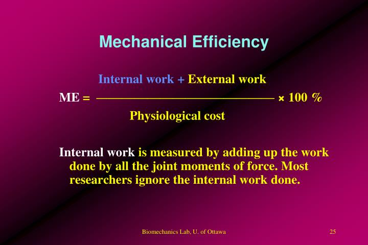 Mechanical Efficiency