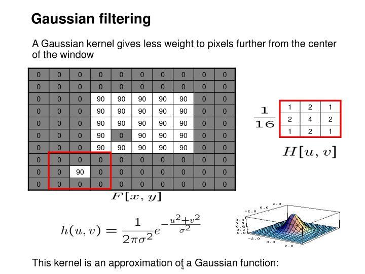 Gaussian filtering