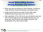 social networking doubles among boomers and seniors