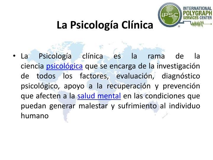 LaPsicología Clínica