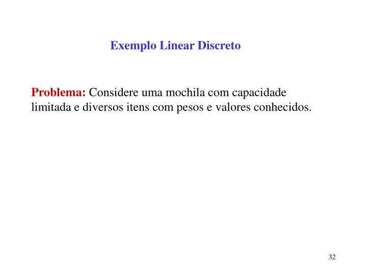 Exemplo Linear Discreto