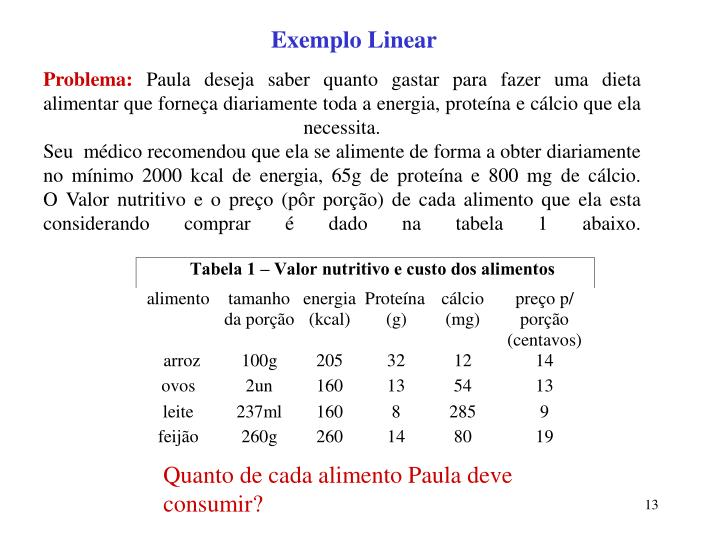 Exemplo Linear