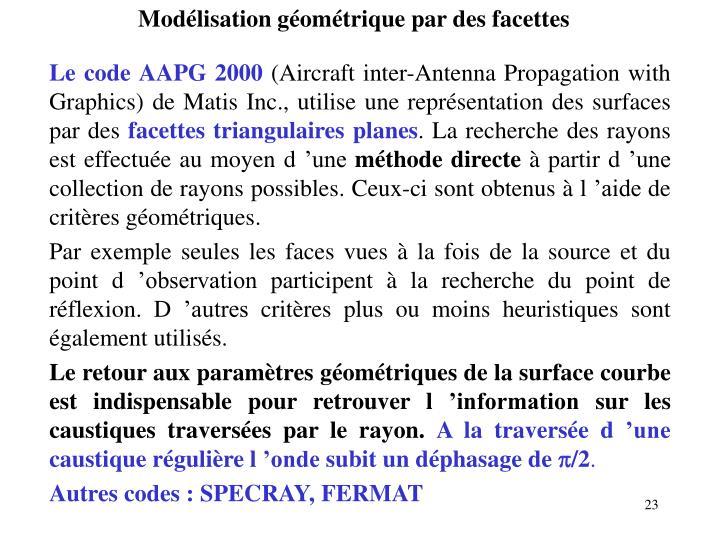 Modélisation géométrique par des facettes