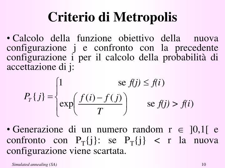 Criterio di Metropolis