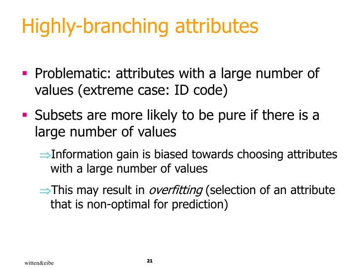 Highly-branching attributes