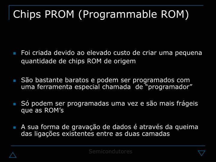 Chips PROM (Programmable ROM)