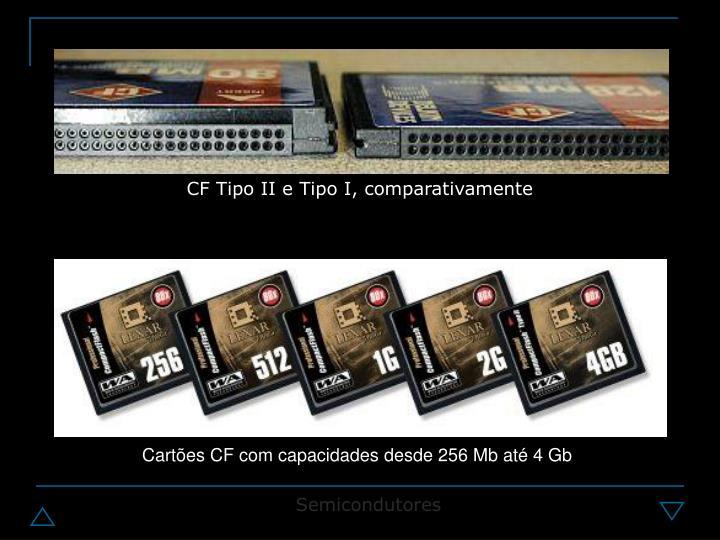 CF Tipo II e Tipo I, comparativamente
