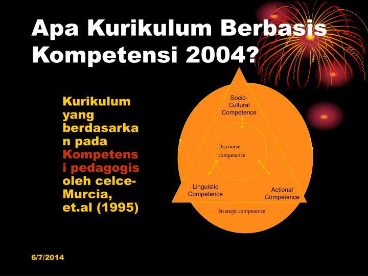 Apa Kurikulum Berbasis Kompetensi 2004?