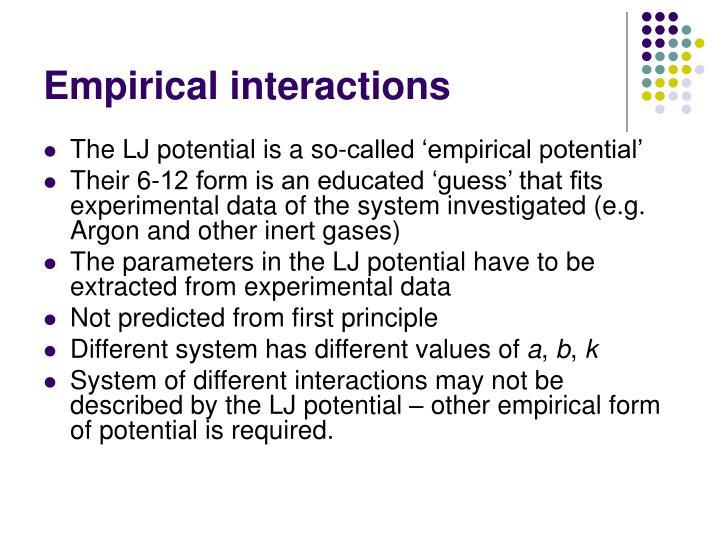 Empirical interactions