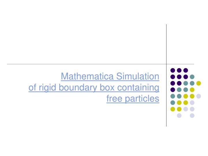 Mathematica Simulation