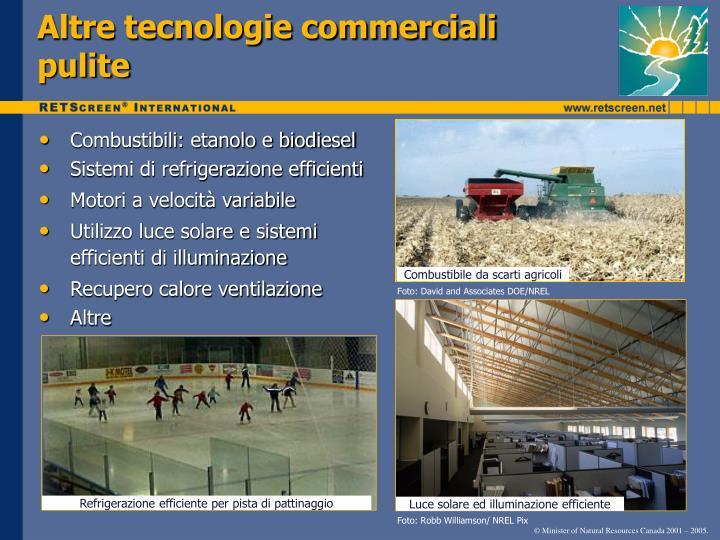Altre tecnologie commerciali pulite