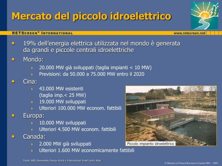Mercato del piccolo idroelettrico