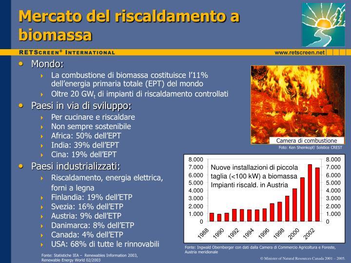 Mercato del riscaldamento a biomassa