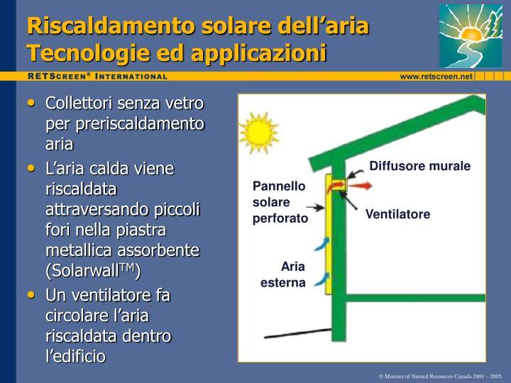 Riscaldamento solare dell'aria