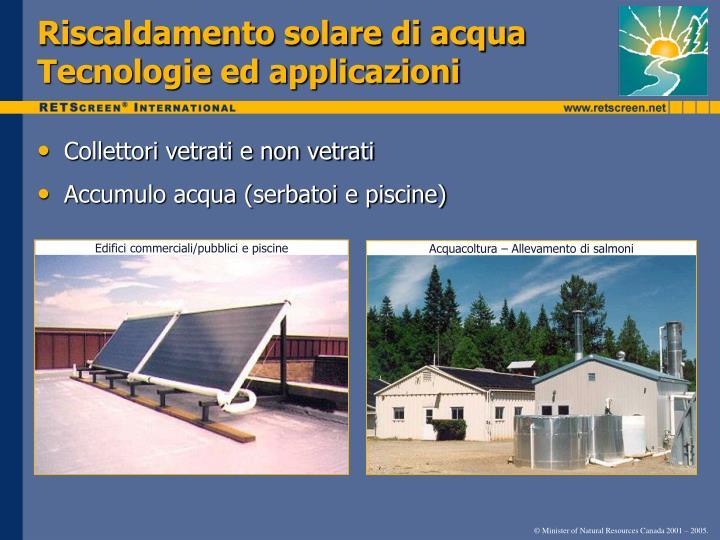 Riscaldamento solare di acqua