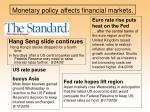 monetary policy affects financial markets