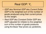 real gdp y t