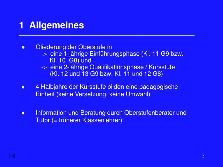 1  Allgemeines