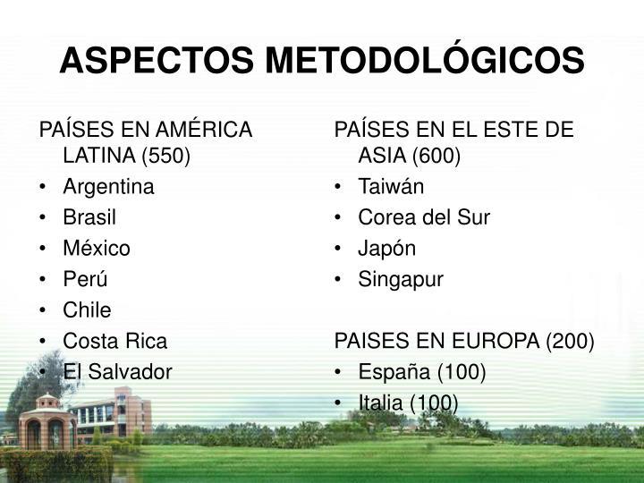 PAÍSES EN AMÉRICA LATINA (550)