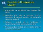comitato di divulgazione obiettivi