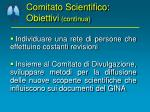 comitato scientifico obiettivi continua