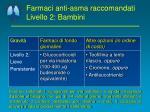 farmaci anti asma raccomandati livello 2 bambini