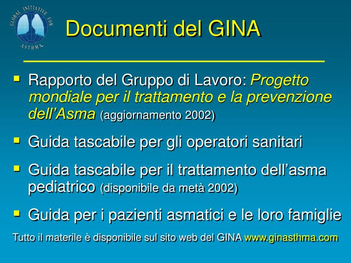 Documenti del GINA