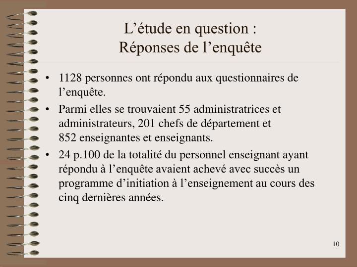 L'étude en question :