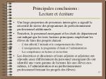 principales conclusions lecture et criture1