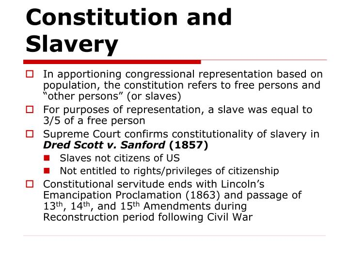 Constitution and slavery
