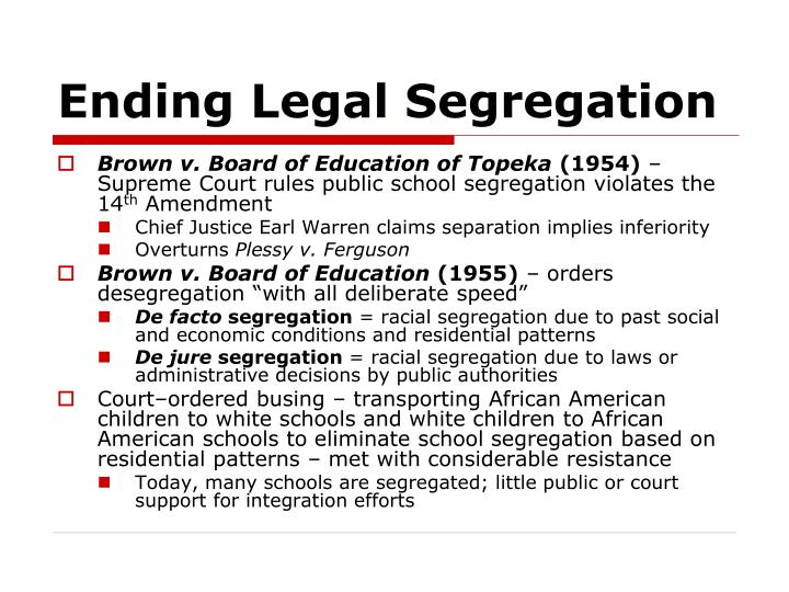 Ending Legal Segregation