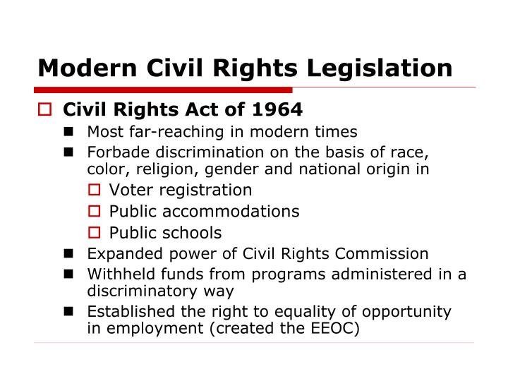 Modern Civil Rights Legislation