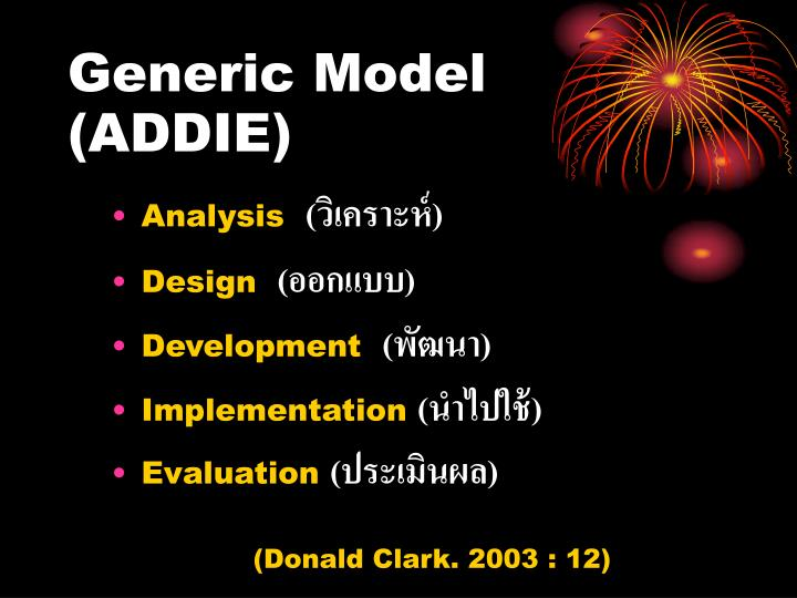 Generic Model  (ADDIE)