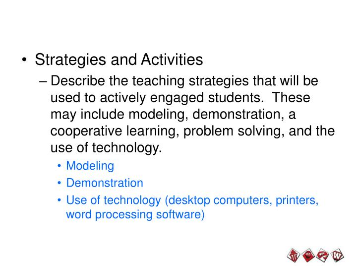 Strategies and Activities