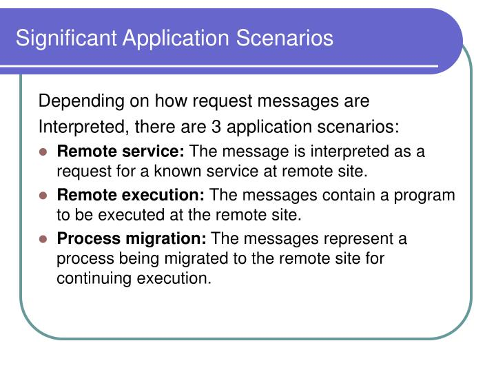 Significant Application Scenarios