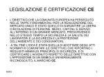 legislazione e certificazione ce