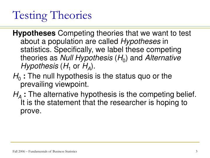 Testing Theories