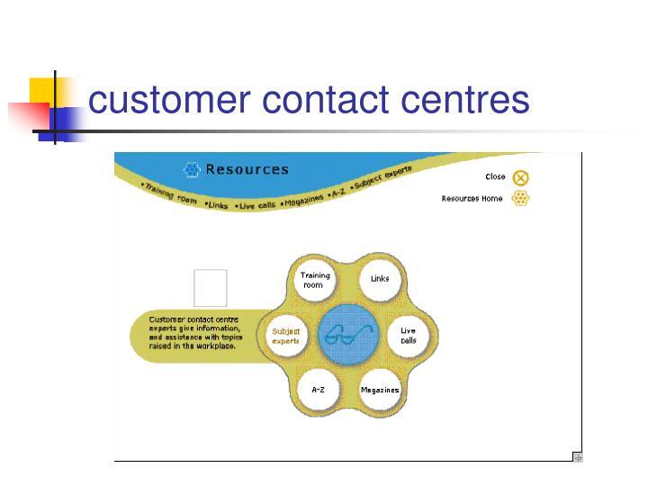 customer contact centres