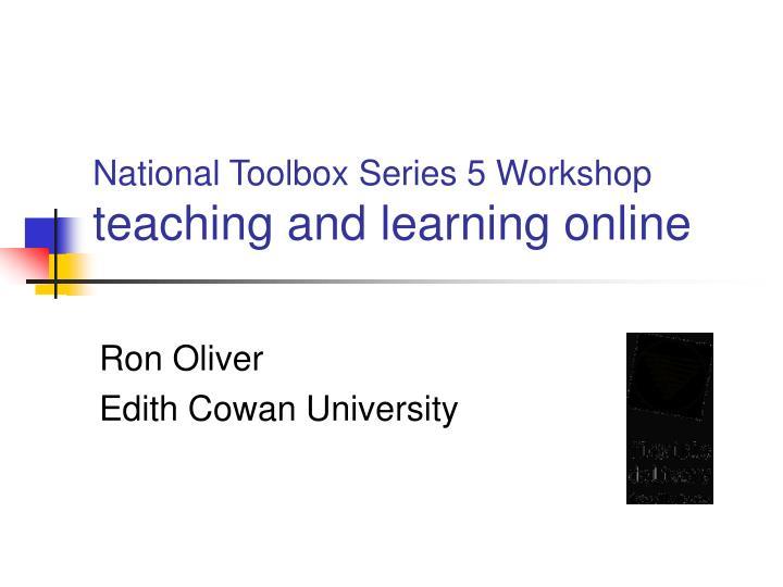 National Toolbox Series 5 Workshop