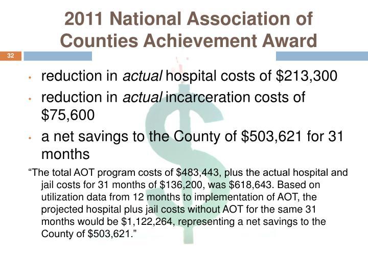 2011 National Association of Counties Achievement Award