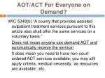aot act for everyone on demand