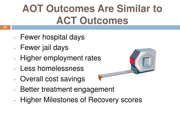 AOT Outcomes Are Similar to ACT Outcomes